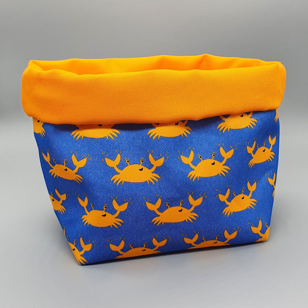 Crab fabric storage basket