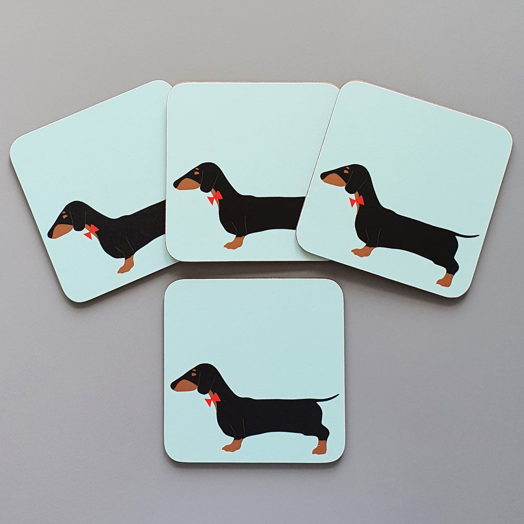 Dachshund set of 4 coasters