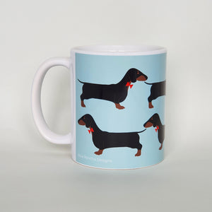 Dachshund earthenware mug