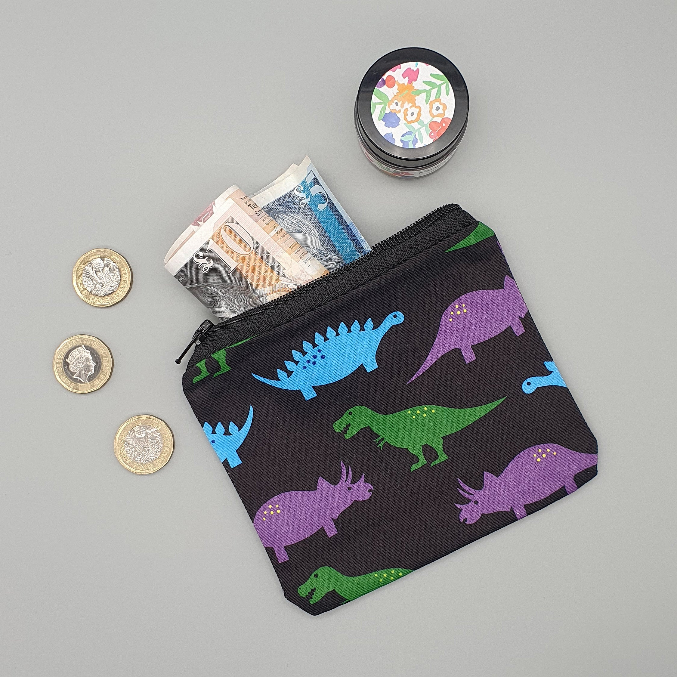 Dinosaurs fabric purse