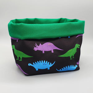 dinosaurs fabric storage basket