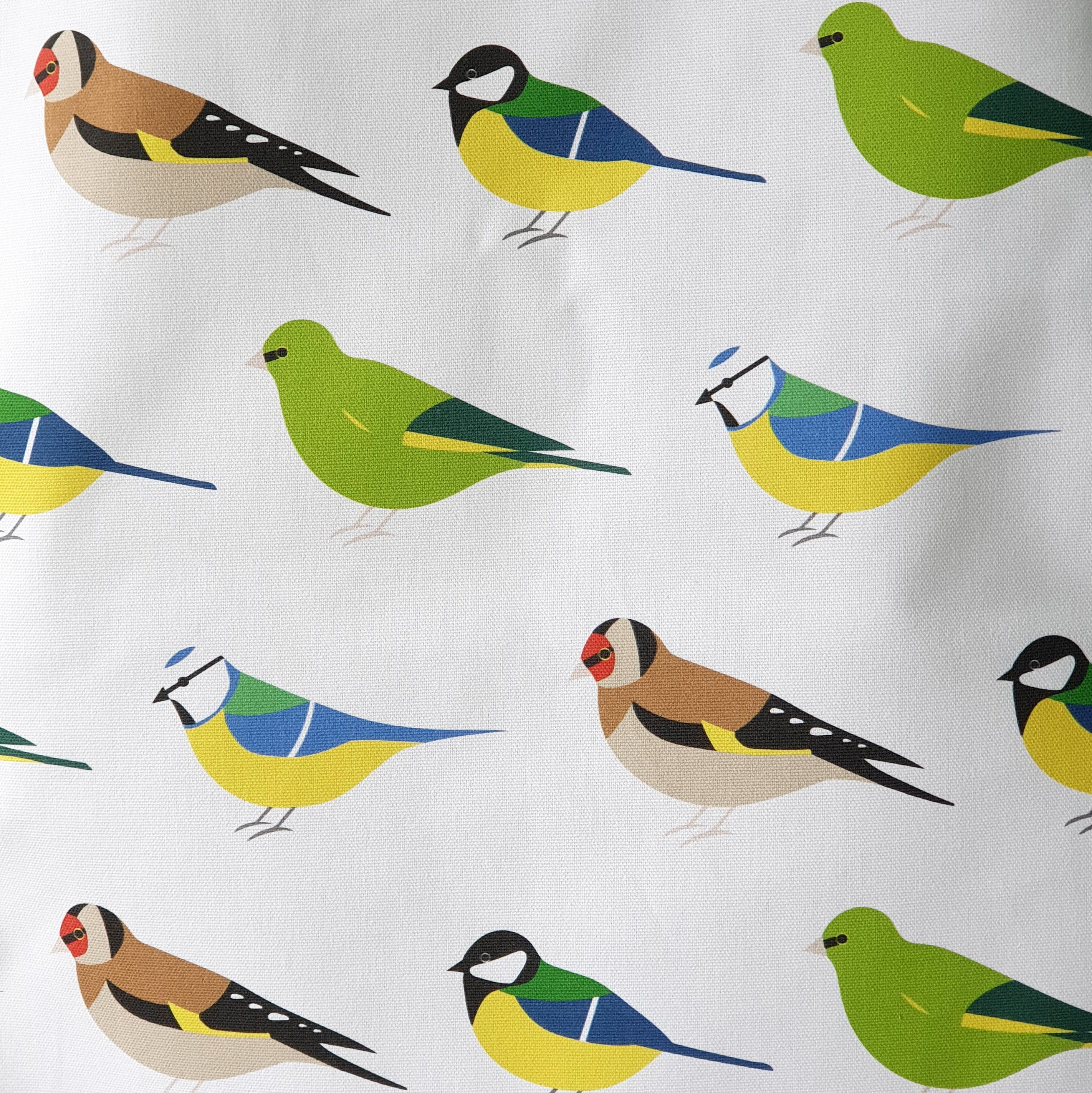 Garden Birds Tea Towel close-up detail