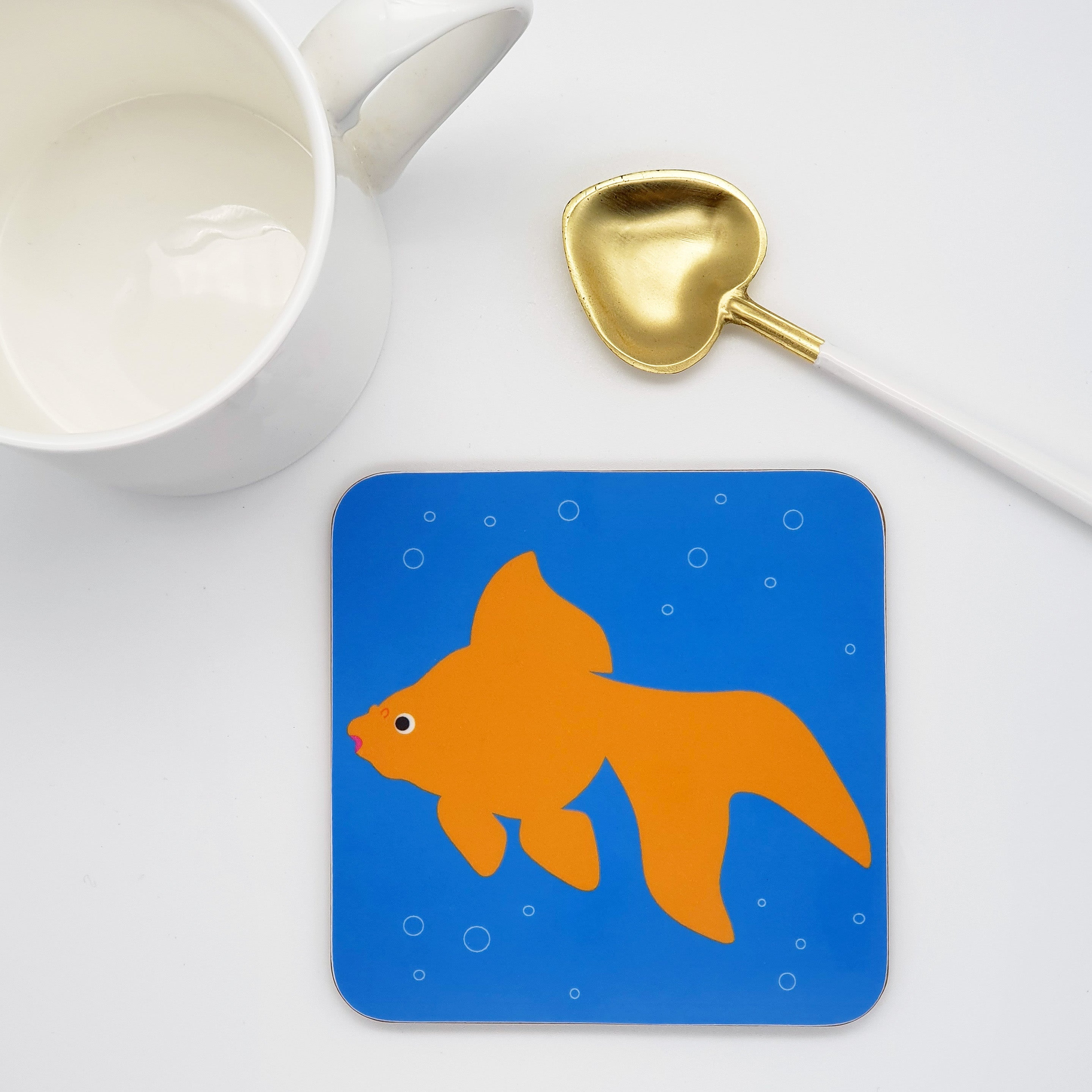 Orange Fancy Goldfish Coaster