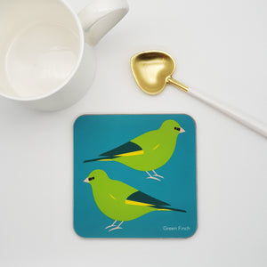 Green Finch Coaster