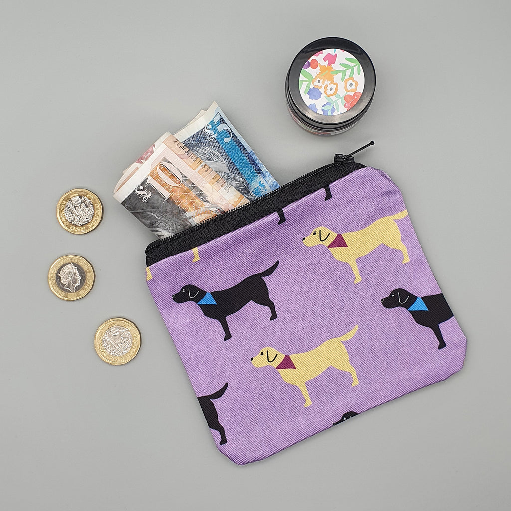 Labradors fabric purse