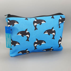 Orca whale accessories bag