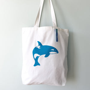 Orca canvas tote bag