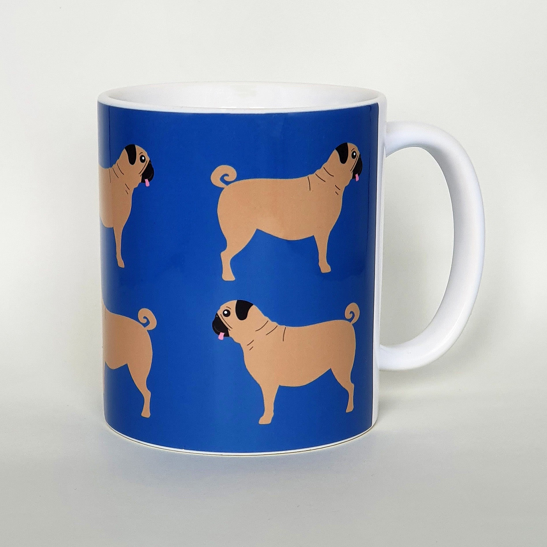 Pug earthenware mug