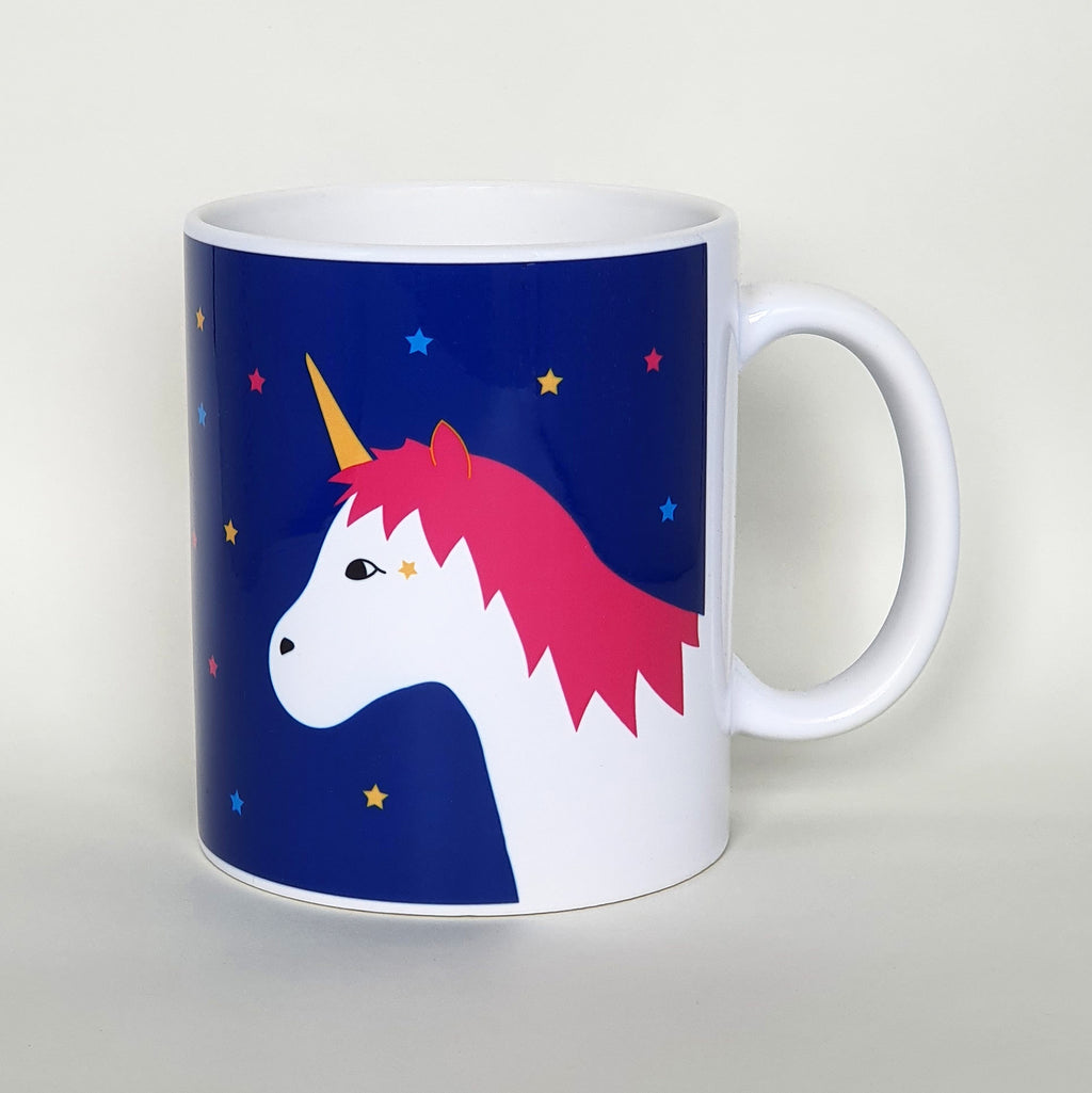 Unicorn earthenware mug