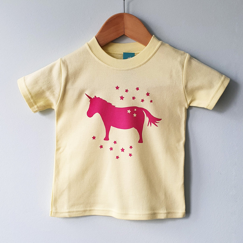 Unicorn kids cotton tshirt