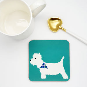 West Highland Terrier (Westie) Coasters - Set of 4
