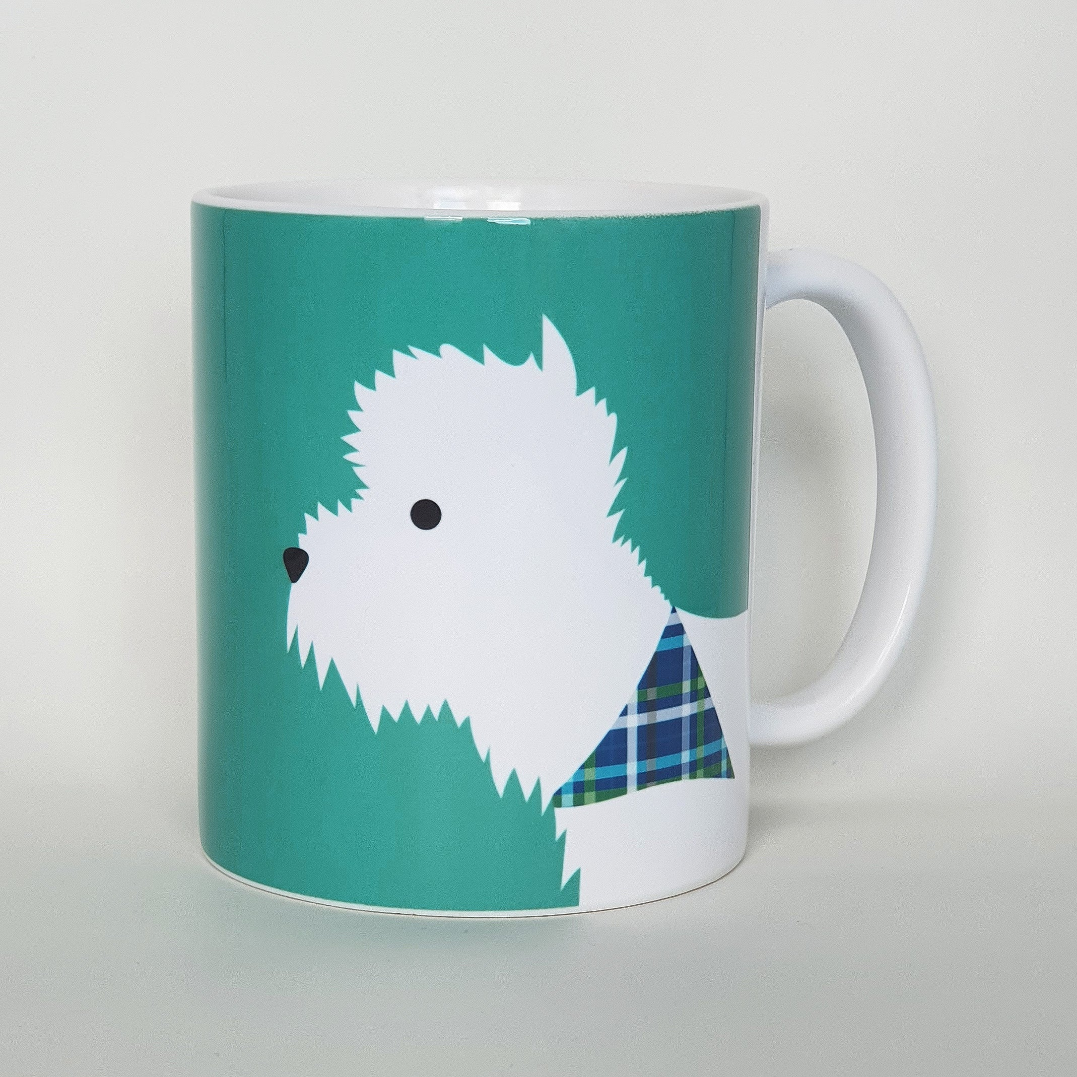 Westie Earthenware mug
