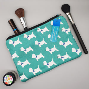 Westie make-up bag