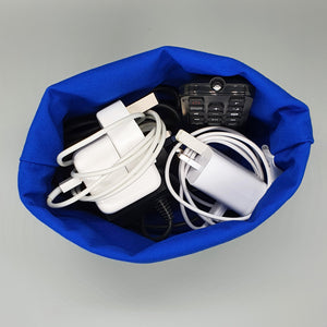 Westie storage basket with chargers