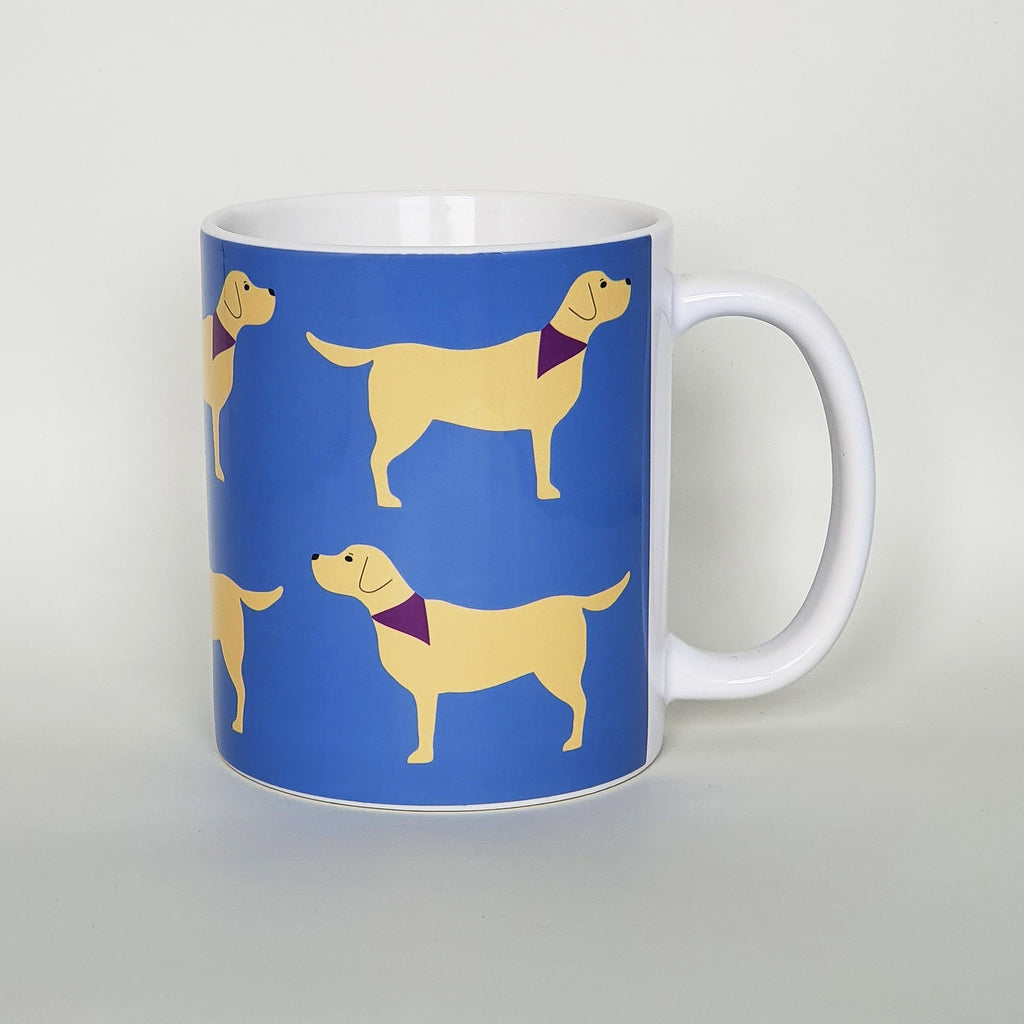 Yellow Labrador earthenware mug