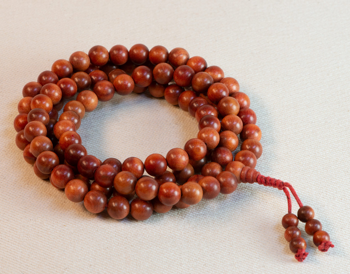 Orange Sandalwood Mala