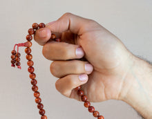 Load image into Gallery viewer, Orange Sandalwood Mala