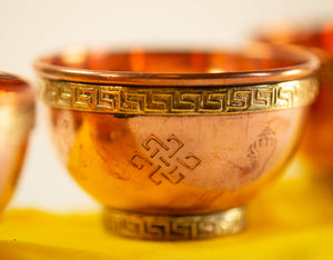 Traditional Copper Offering Bowl