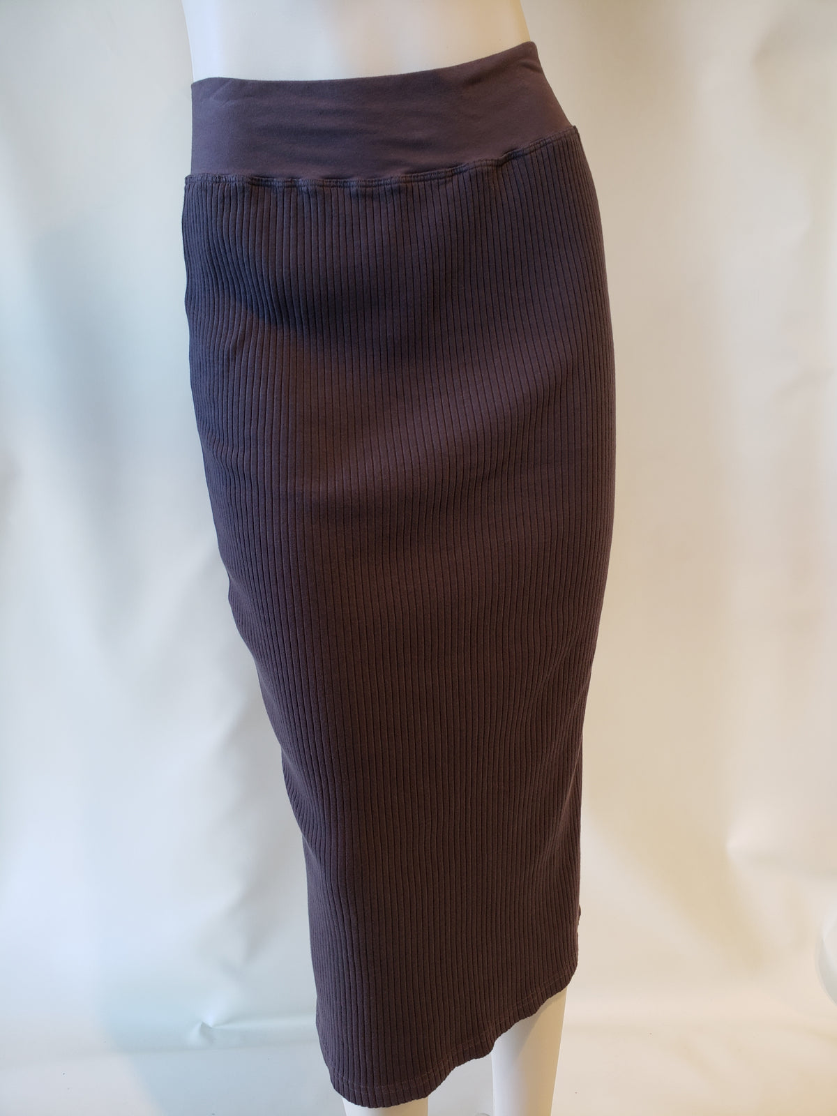 Hardtail Wide Ribbed Midi Column Skirt