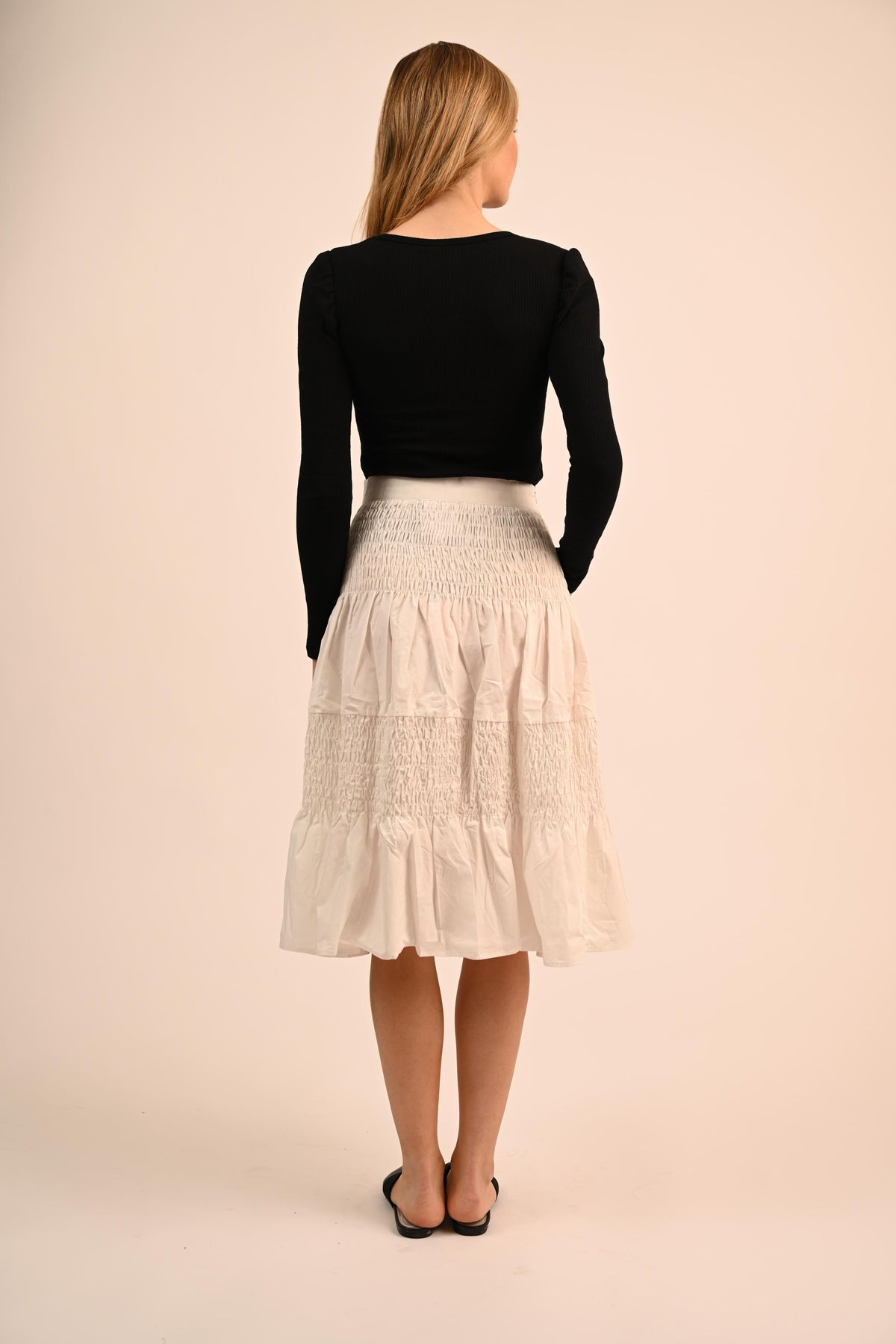 Bliss Ruched Midi Skirt