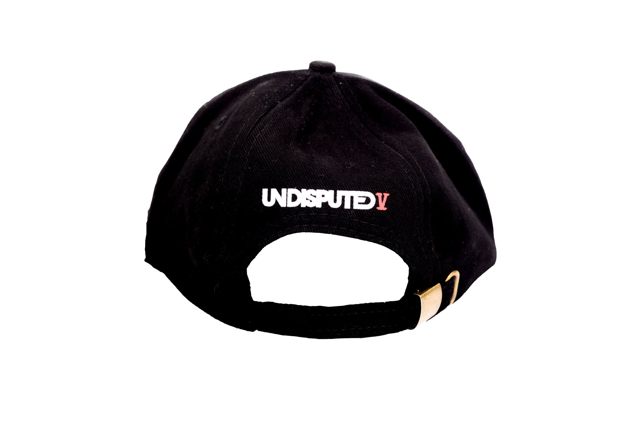 Black Undisputed Cap back