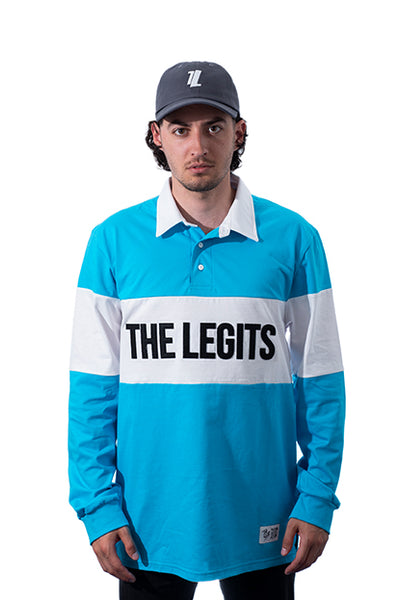 LIVIN' & ROLLIN' - Long Sleeve Polo Tee