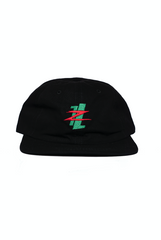 Six Panel Hat - Lil Zoo x The Legits (Black)
