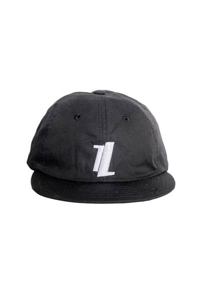 Black Six Panel Hat front