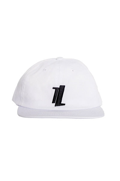 White Six Panel Hat front