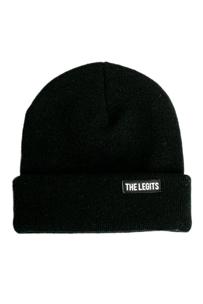 Double-patch Beanie (Black)
