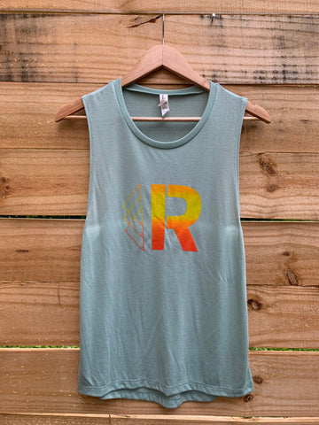 Riveter Sunset Flow Muscle Tank