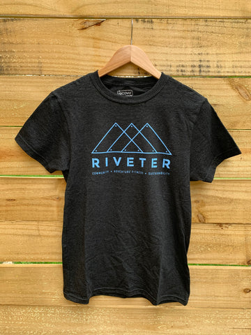 Riveter Recover Tee - Carbon/Blue