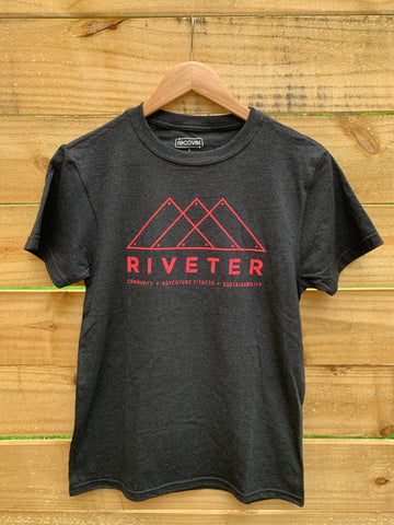Riveter Recover Tee - Carbon/Pink