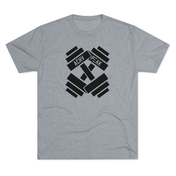 ACHV PEAK Dumbbell Crossbones - Men's Tri-Blend Crew Tee