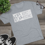 Respect The Resistance - White - Men's Tri-Blend Crew Tee