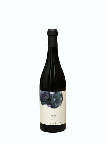 Bottle of Grièr, a Natural Wine produced by Calalta with Syrah and Grenache grapes.