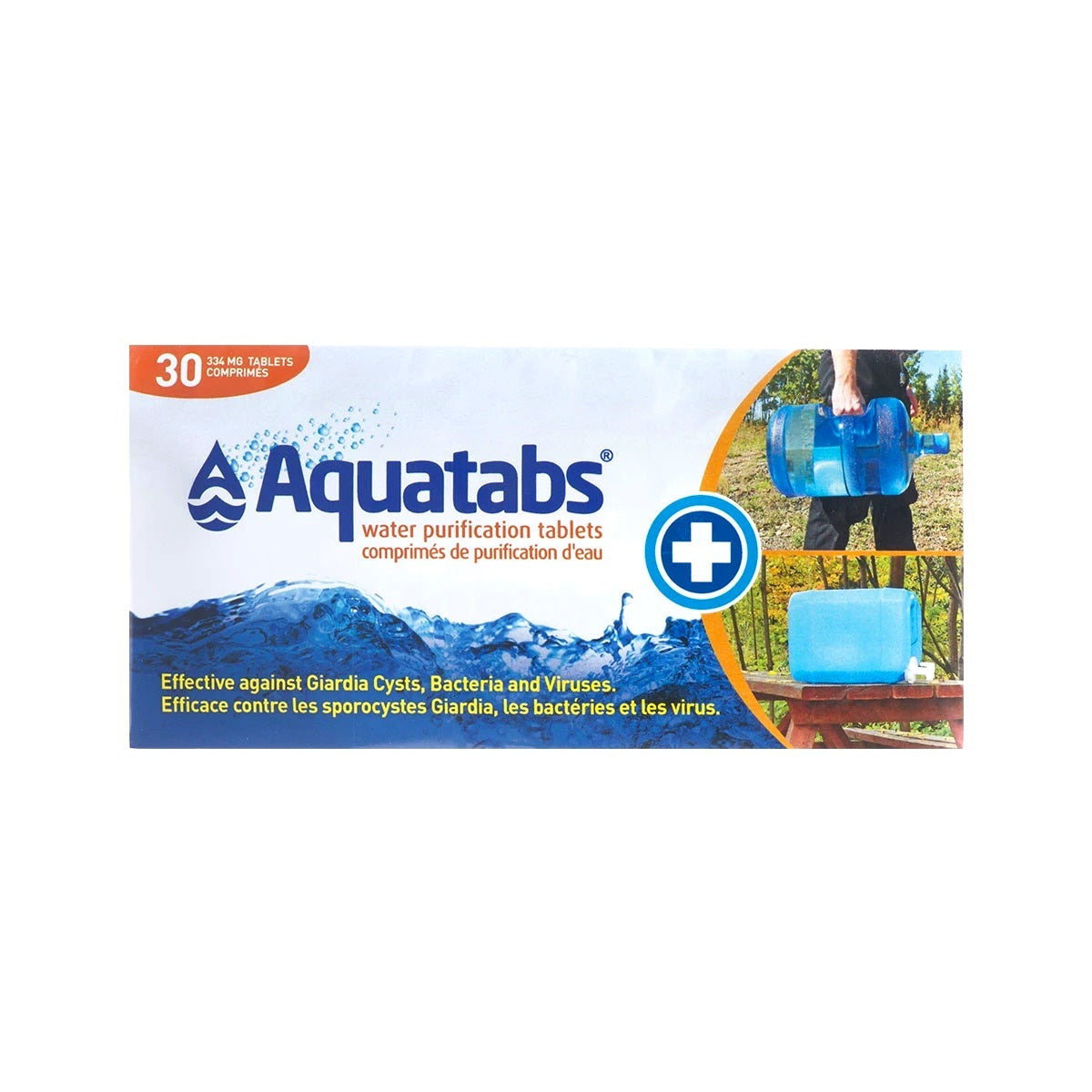 Aquatabs Water Purification Tablets 334 mg Canadian Pack