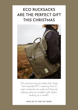 Eco rucksacks are the perfect gift this Christmas