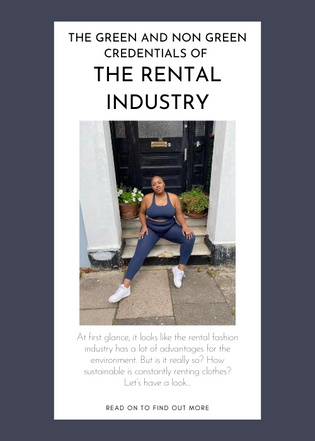 The green and non green credentials of the rental industry