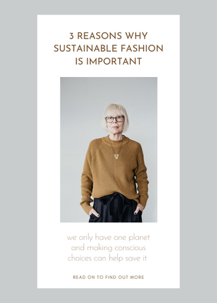 3 Reasons Why sustainable fashion is important