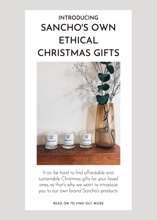 Introducing Sancho's Own Ethical Christmas Gifts