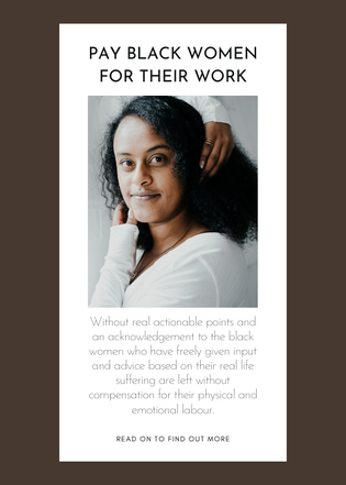 Pay Black Women for their work