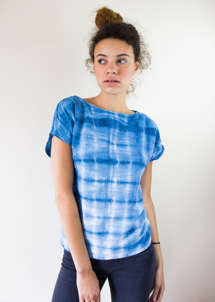 Gingham Print using Indigo Dyed Ethical Fashion, Eco Friendly, Sancho's Dress
