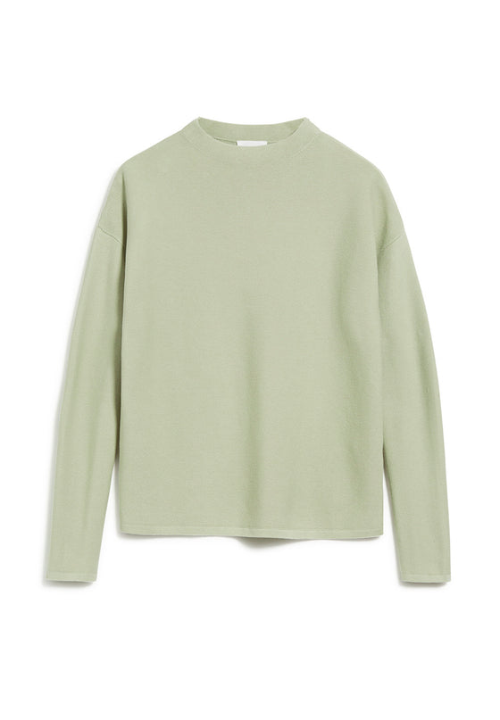 100% Knitted Organic Cotton Medinaa Sweater Jumper in Pistachio from Armedangels