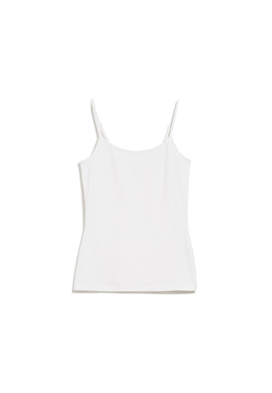 100% Organic Cotton Daani Vest Top in White from Armedangels