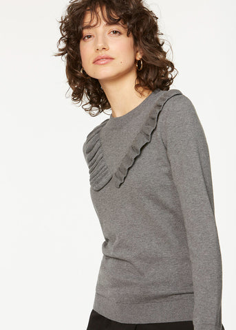 100% organic cotton long-sleeved grey top Ranita Women's top Sancho's Dress Armed Angels