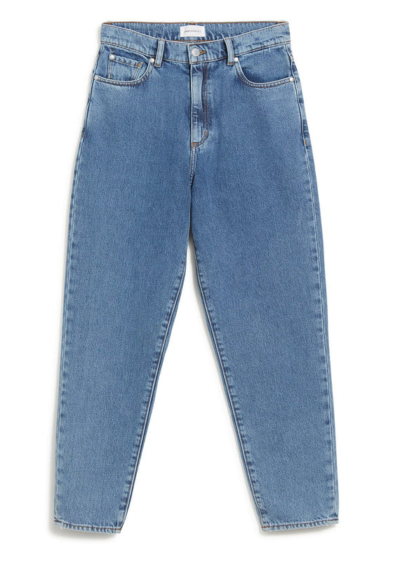 100% Organic Cotton Mairaa Jeans in Mid Blue from Armedangels