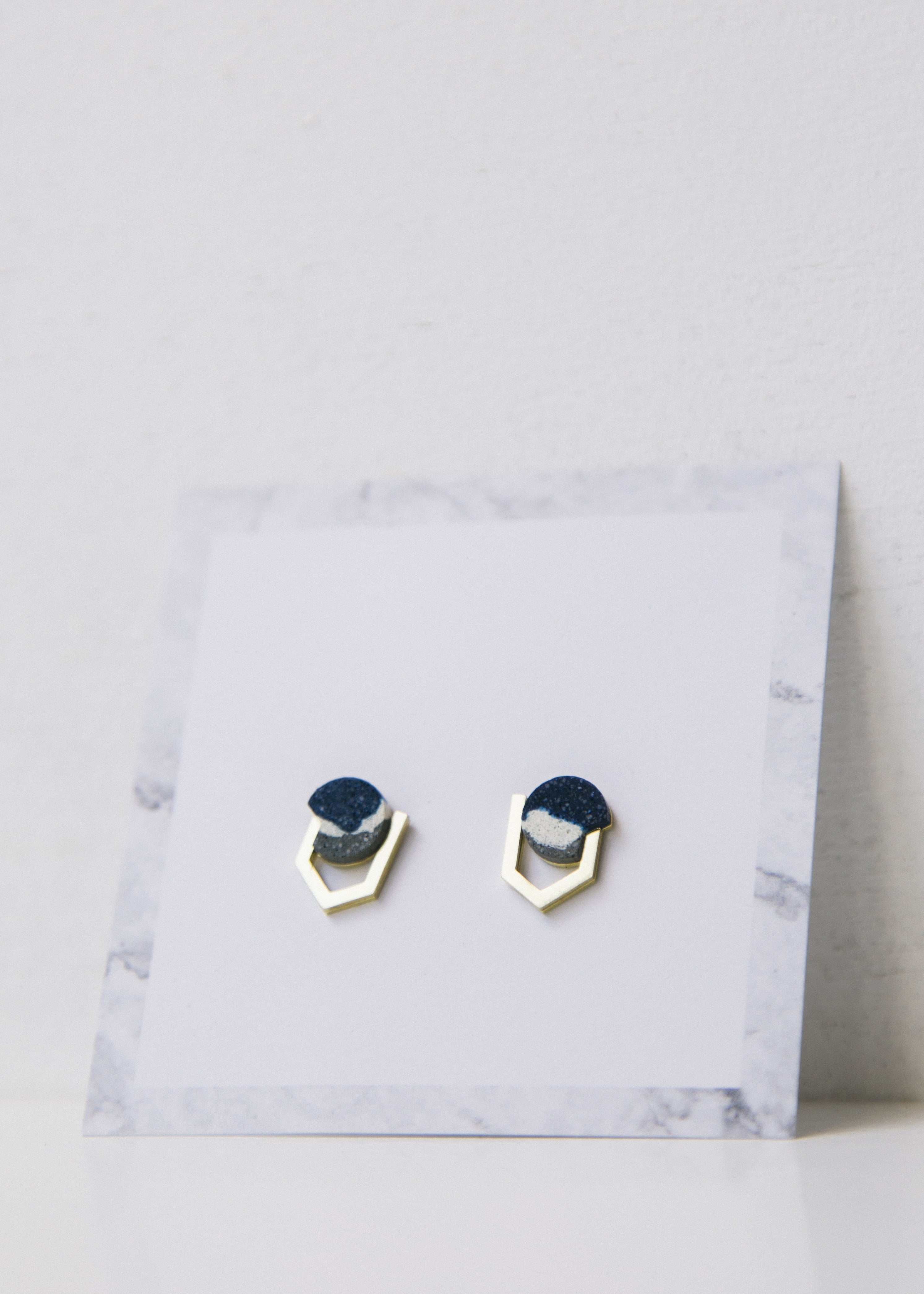 Syne Brass/Ink Earrings-Earrings-Sancho's Dress