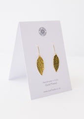 Meadow Large Leaf Earrings-Earrings-Sancho's Dress