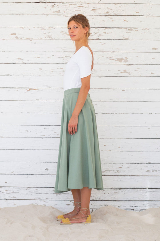 Edith Skirt in Iceberg Green